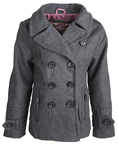 Images of Girls Pea Coat - Reikian
