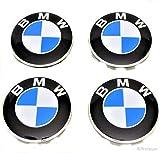 #9: Preteum – Set of 4 – BMW Wheel Center Caps – Compatible for BMW Wheels – New – Blue & White - 68mm / 2.68 inch - BMW Center Caps - BMW Wheel Caps