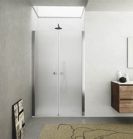 Box porta doccia, nicchia saloon due ante cristallo 6mm opaco h.195cm MYKONOS (115cm (112-116cm)) MITEPEK