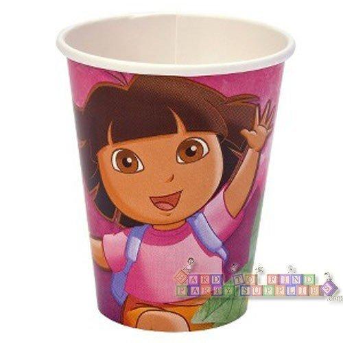 - Dora the Explorer 9 Oz Paper Cup ~ 8 Count