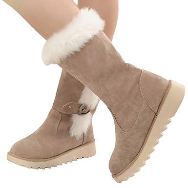 Geili Winterstiefel Damen Schneestiefel Wasserdicht Warm Gefüttert Fell Winterschuhe Stiefelette Outdoor Boots Arbeitsschuhe Schneestiefel Wandern