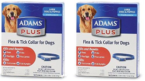 (2 Pack) Flea & Tick Collar for Dogs, Size - Collar Adams Flea