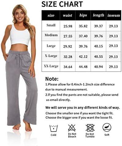 UEU Womens Sweatpants Wide Leg Yoga Pants Drawstring Loose Workout Lounge Pants with Pockets