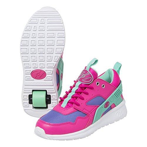 Heelys Girl's Force (Little Kid/Big Kid/Adult) Pink/Blue/Mint Athletic Shoe by Heelys