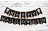 Happy Halloween Sign, Halloween Decorations, Skull Banner B167