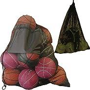 2 Pack Mesh Ball Bag, Mesh Sports Equipment Bags - Heavy Duty and Extra Thick Drawstring 74cm x 96cm Sport Mes