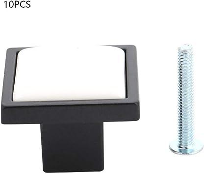 ADGSSJ 10 piezas de perillas de manija de puerta cuadrada de ...