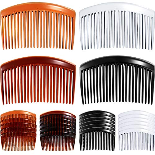 24 Pieces Hair Comb Plastic Hair Side Combs Straight Teeth Hair Clip Comb Bridal Wedding Veil Comb for Fine Hair
