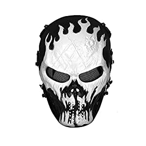 airsoft masks coloring pages | Amazon.com : H World Shopping Metal Mesh Protect Face Mask ...