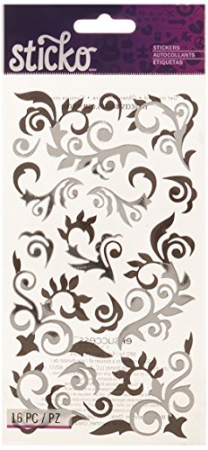 Sticko Silver Flourish Stickers