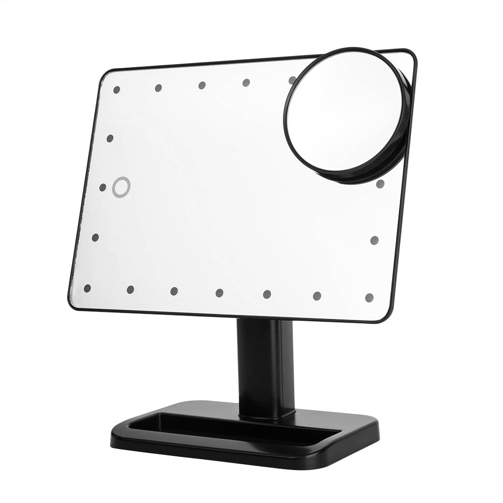 Amazon.com : Ovonni 10X Magnifier LED Touch Screen Makeup Mirror ...