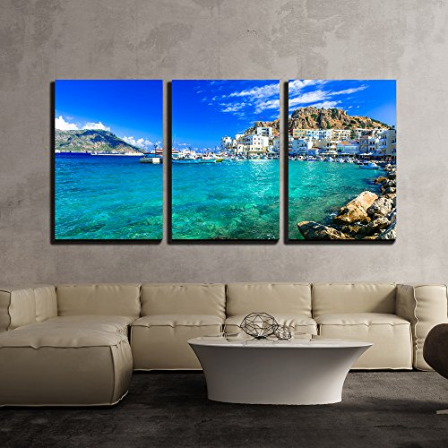 Beautiful Islands of Greece Karpathos Pigadia x3 Panels