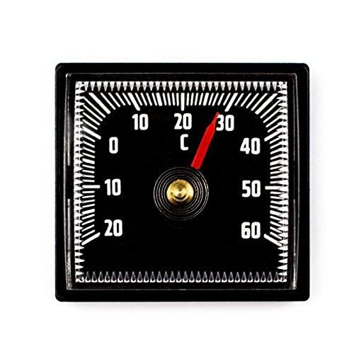 Lantelme 2303 bimetal Analog Auto Termó metro autoadhesiva con adhesiva –  Plá stico negro