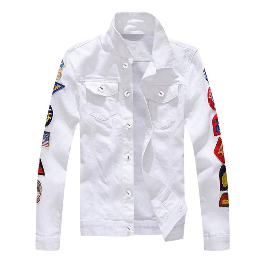 Ultramall Autumn Men's Winter Long Sleeve Casual Turn-Down Collar Denim Vests Jacket Coat by Ultramall (Image #1)