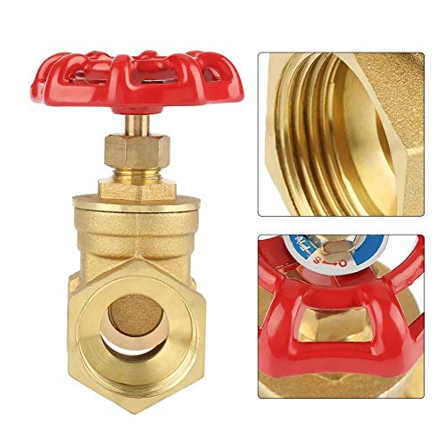 DN25 Sturdy Brass Gate Valve BSPP G1 Rotary Sluice Valve 232PSI for Water Oil Gas by Walfront (Image #6)