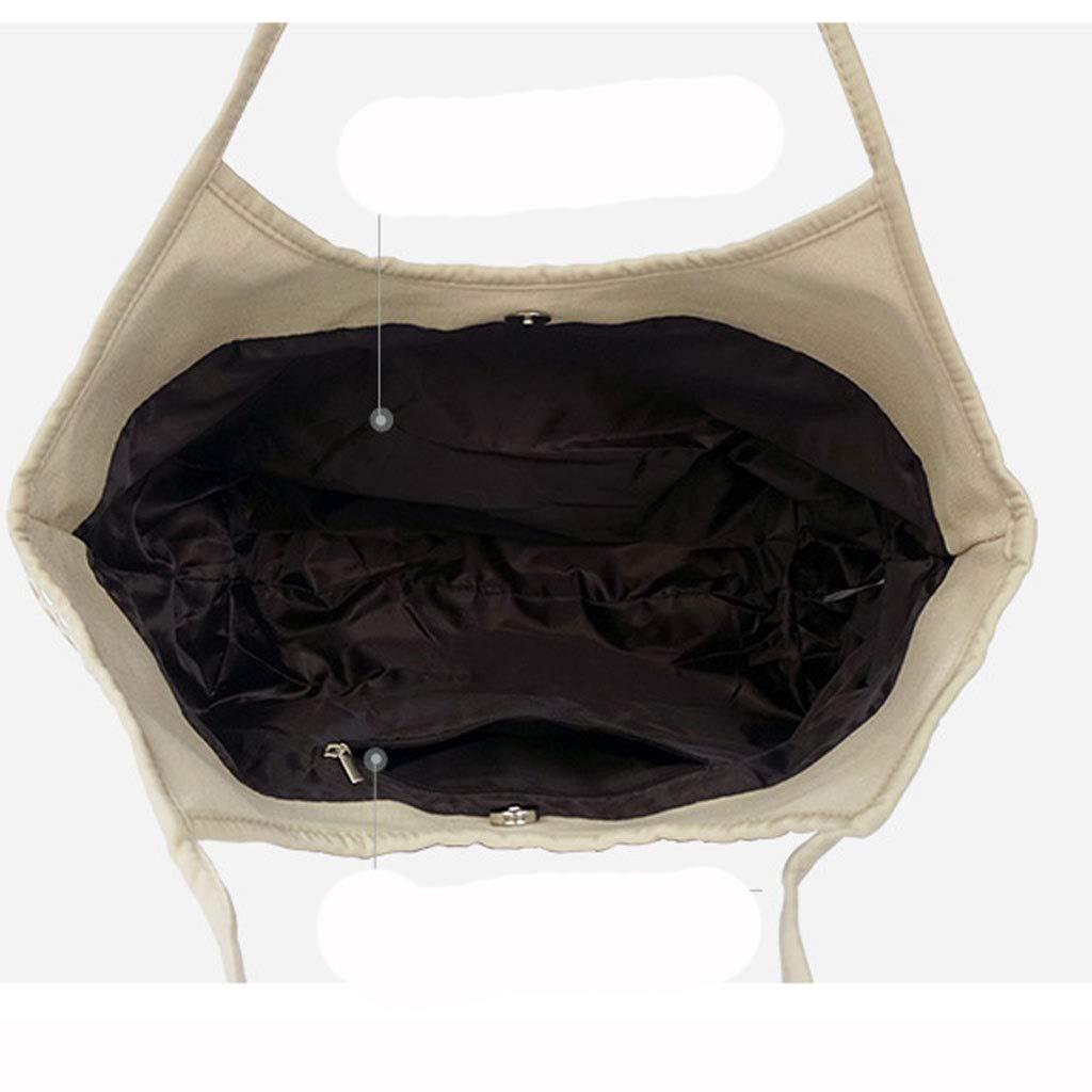 HLD strandväska dam handväska axelväska mode kanvas väska messengerväskor (färg: D) a