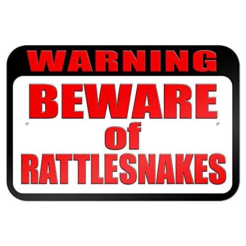 警告ガラガラヘビに注意 金属板ブリキ看板注意サイン情報サイン金属安全サイン警告サイン表示パネル