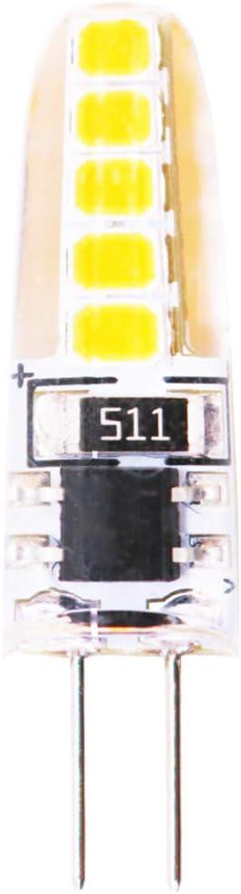 Bombilla LED G4 Lámpara 3W Equivalente a 30W 300 LM AC 220V Blanco Calido 3000 K, 10×2835 SMD LED, No Regulable, Ángulo de visión 360°-(1 pack)
