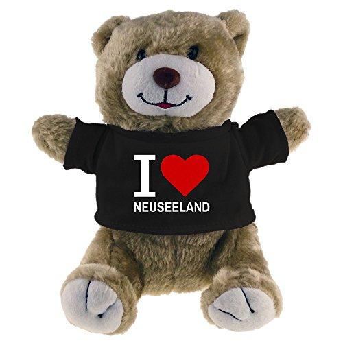 Kuscheltier Bär Classic I Love Neuseeland beige