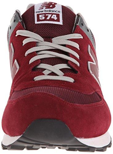 Lifestyle ML574 Sneaker Burgundy Balance New Men's w6zESqx