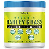 Premium Organic Barley Grass Juice Powder| 8 Ounces of USA Grown Green Superfood & Chlorophyll Supplement- USDA Certified Greens Powder, Gluten Free, Non-GMO- Bulk Pack (226g) Review