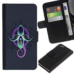 EJOY---La carpeta del tirón la caja de cuero de alta calidad de la PU Caso protector / Apple Iphone 6 / --Neón abstracto pulpo