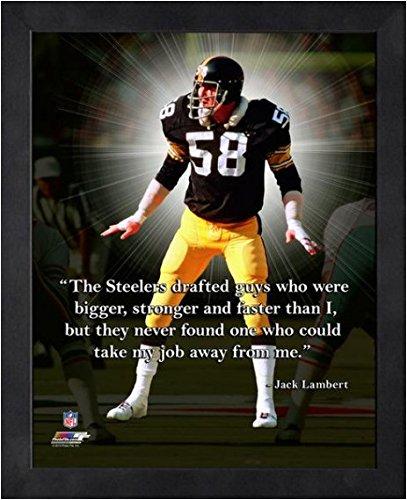 8c5526bb Amazon.com: Jack Lambert Pittsburgh Steelers NFL framed Pro Quotes ...