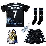 GamesDur Real Madrid Ronaldo  7 Black Dragon Soccer Kids Jersey   Short    Sock   b4c625057