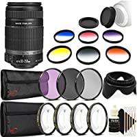 Canon EF-S 55-250mm f/4.0-5.6 IS II Telephoto Zoom Lens for DSLR Cameras with Accessory Kit