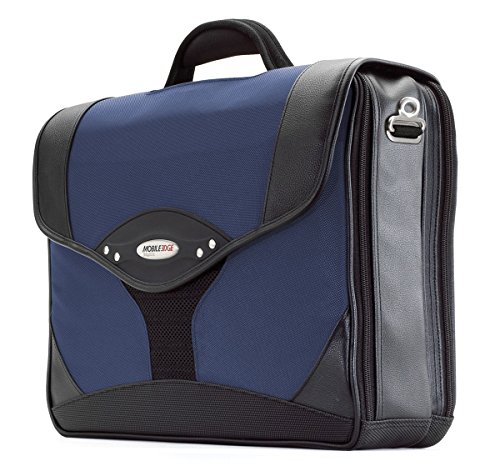 Mobile Edge Premium 15.4'' Laptop Briefcase, Computer Business Case in Navy (15.4' Portfolio Rolling Laptop)