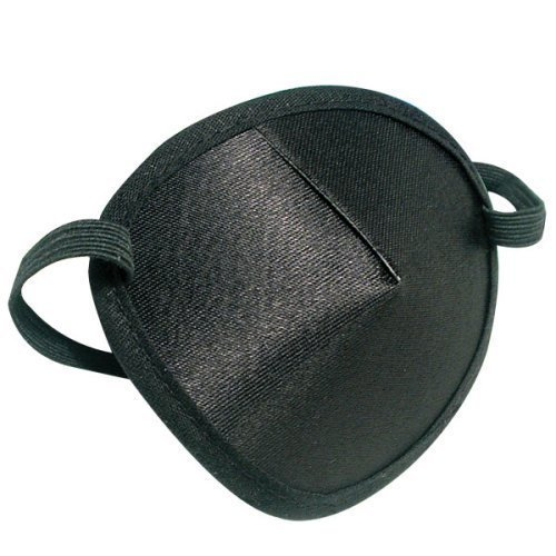 Deluxe Adult Costumes - Black elastic band pirate eye patch costume accessory