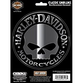 Amazoncom HarleyDavidson Small Hubcap Skull Decal Motorcycle - Stickers for motorcycles harley davidsonsmotorcycle decals and stickers