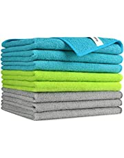 AIDEA Microfiber Cleaning Cloths Softer Highly Absorbent, Lint Free Streak Free for House, Kitchen, Car, Window (12in.x16in.)—8PK