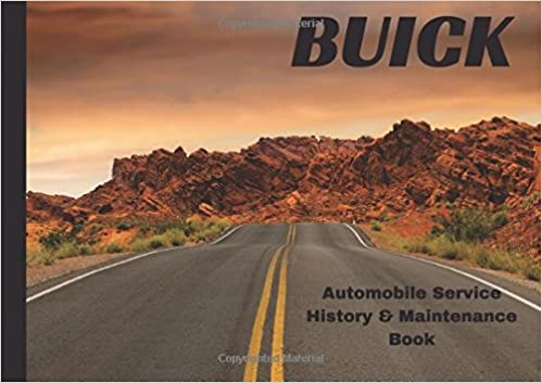 buick automobile service history maintenance book vehicle