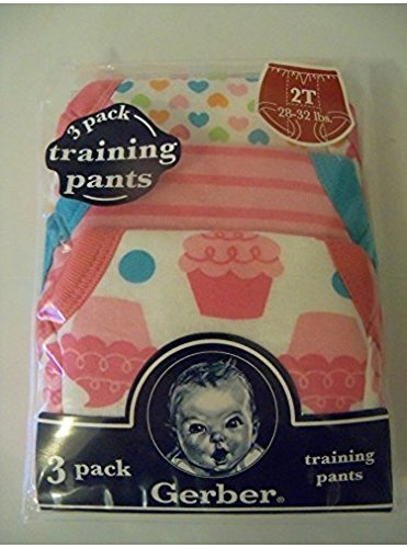 Gerber Toddler Girl Training Pants Pink 3 Pack Size 2T