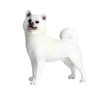 Vosarea Shiba Inu Dog Figurine Dog Garden Statue Dog Sculpture Dog Model Decorations Ornaments : Garden & Outdoor