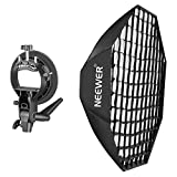 Neewer Portable Beehive Octagon Speedlite Softbox and S-Type Bracket Holder Kit for Nikon, Canon, Sony, Pentax, Olympus, Panasonic Lumix Flash Speedlite Studio Shooting with Bowens Mount