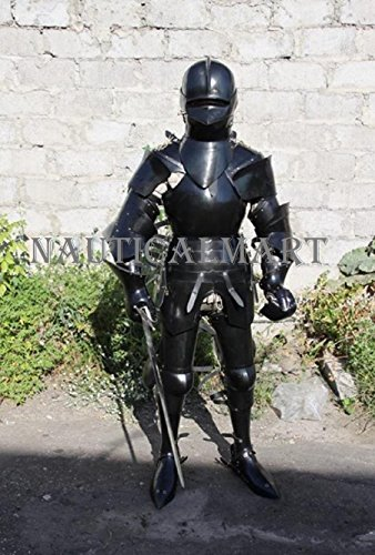 NAUTICALMART Medieval Wearable Suit of Armor Knight Black Full Body Armor