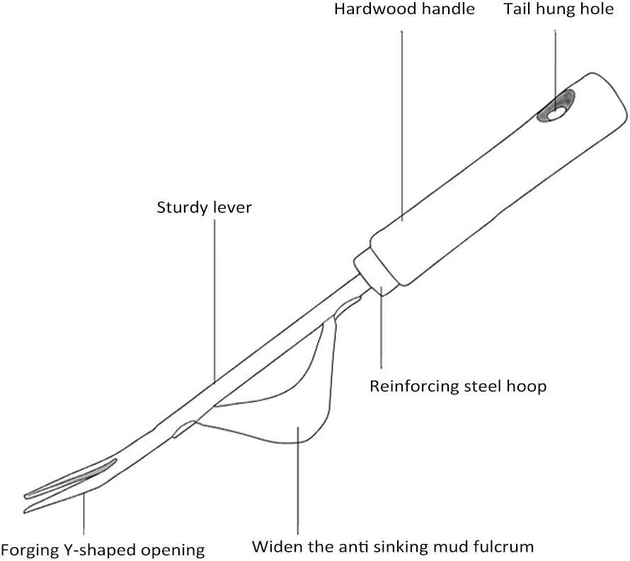 mango suave resistente Deshierba manual de alta calidad acero inoxidable antideslizante para eliminar cardos de le/ón y malas hierbas GTWCK herramientas de deshierba para jard/ín c/ésped patio