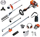 PROYAMA 27CC Multi Function 5 in 1 Pole Hedge Trimmer, Trimmer, Brush Cutter, Pole Chainsaw Pruner & 1M Extension Pole