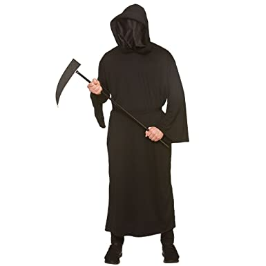 Adult Mens Black Faceless Reaper Halloween Fancy Dress Costume (One Size) 8f27eb99f