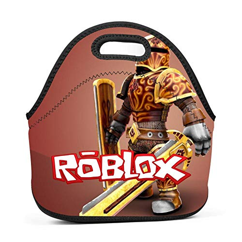 ZALOA Rob-lox,Reusable Insulated Neoprene Lunch Bag for Everyone