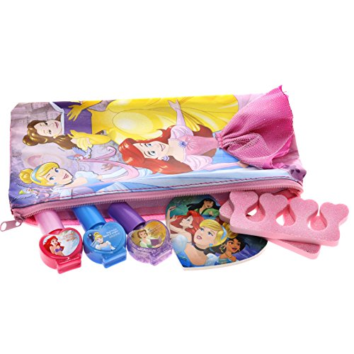 51UNd4DvQ%2BL - TownleyGirl Disney Princess Cosmetic Set with Nail Polish, Lip Gloss, Press-On Nails, Sandals, Toe Separators, and More