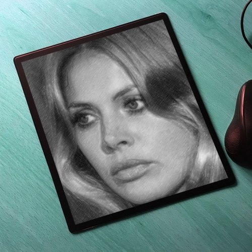 Man Island Wicker (Seasons BRITT EKLAND - Original Art Mouse Mat #js006)