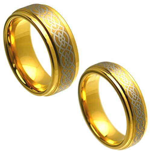 Tapered Mens Wedding Ring - 9