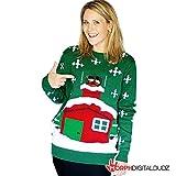Digital Dudz Stuck Santa Digital Christmas Sweater - size Xlarge