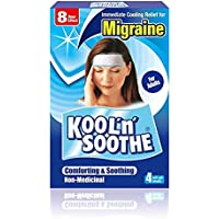 Kool 'n' Soothe Migraine Cooling Strips 4 Strips (Packaging may vary) - PACK OF 3