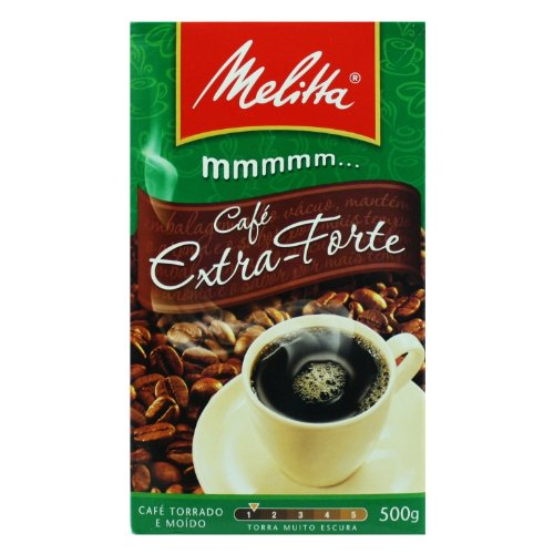 Melitta Extra Strong Roasted Coffee - 17.6 oz | Café Extra-Forte Melitta - 500g - (PACK OF 24) by Melitta (Image #1)