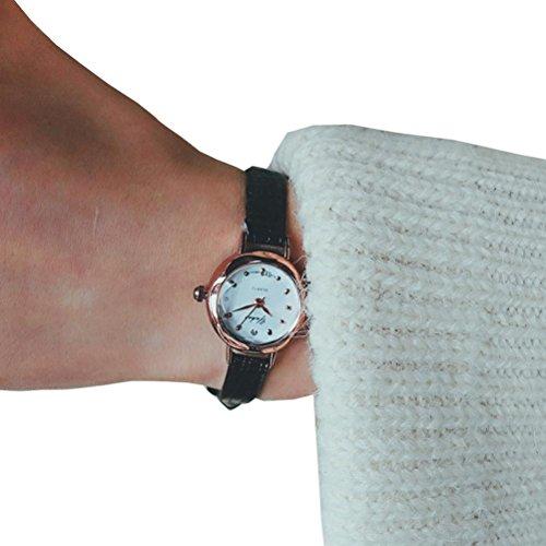Hunputa Vintage Slim Wrist Small Dial Watch Luxury Business Quartz Analog Watches for Women Gift