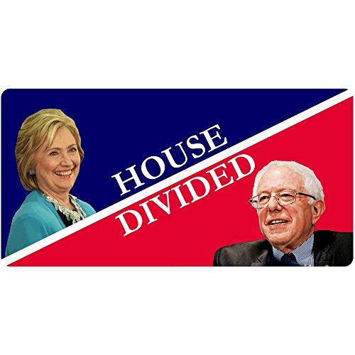 House Divided Hillary Clinton/Bernie Sanders Funny Decal Sticker | Political Bumper ()